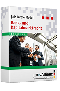 juris PartnerModul Bank- und Kapitalmarktrecht premium