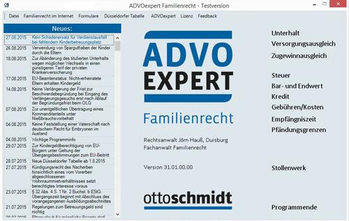 ADVOexpert Familienrecht 2016