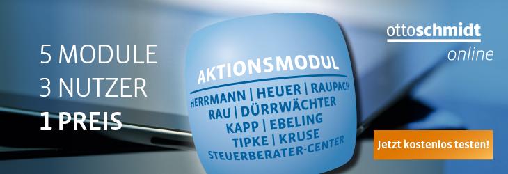 Banner Aktionsmodul Steuerrecht - Herrmann/Heuer/Raupach, Rau/Dürrwächter, Tipke/Kruse, Kapp/Ebeling, Steuerberater-Center