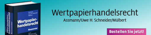 Assmann/Uwe H. Schneider/Mülbert, Wertpapierhandelsrecht. Kommentar