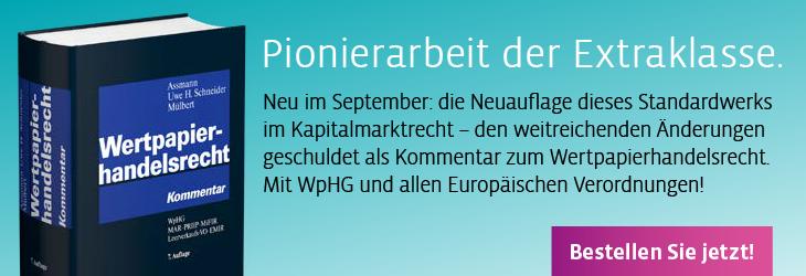 Assmann/Uwe H. Schneider/Mülbert, Wertpapierhandelsrecht