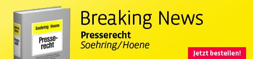 Banner Soehring/Hoene, Presserecht