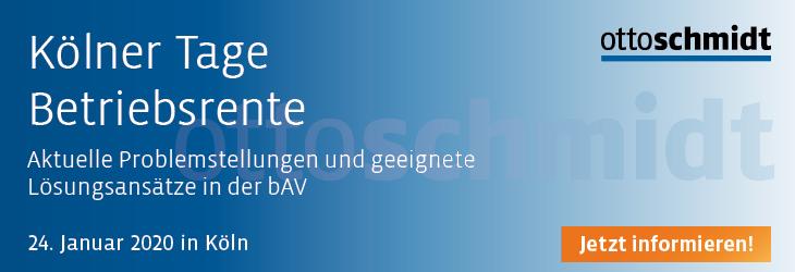Kölner Tage Betriebsrente - 24.01.2020
