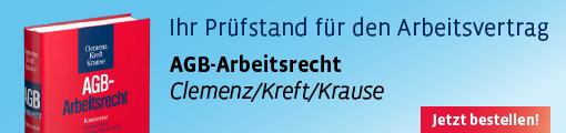 Clemenz/Kreft/Krause, AGB-Arbeitsrecht. Gratis Leseprobe hier!