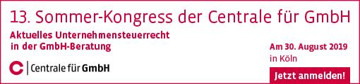 13. Sommer-Kongress der Centrale für GmbH - 30.08.2019