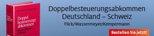 Banner: Flick/Wassermeyer/Kempermann, DBA Deutschland - Schweiz