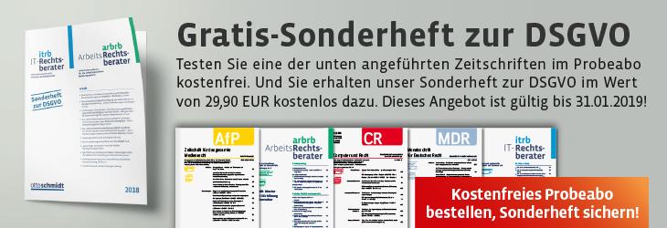DSGVO Sonder-Heft