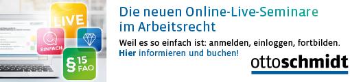 Die neuen Online-Live-Seminare im Arbeitsrecht