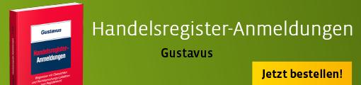 Banner: Gustavus Handelsregister-Anmeldungen