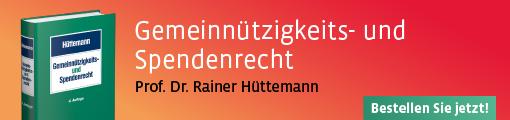 Banner Hüttemann, Gemeinnützigkeits- und Spendenrecht