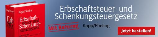 Banner Kapp/Ebeling,  Erbschaftsteuer- und Schenkungsteuergesetz