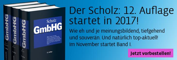 Scholz, GmbH-Gesetz, Bände 1-3