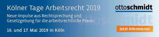 Kölner Tage Arbeitsrecht 2019 - 16./17.05.2019