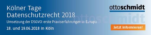 Kölner Tage Datenschutzrecht 2018 -18.-19.06.2018