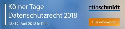 Kölner Tage Datenschutzrecht - 18.-19.6 2018