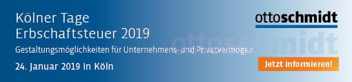 Kölner Tage Erbschaftsteuer - 24.01.2019