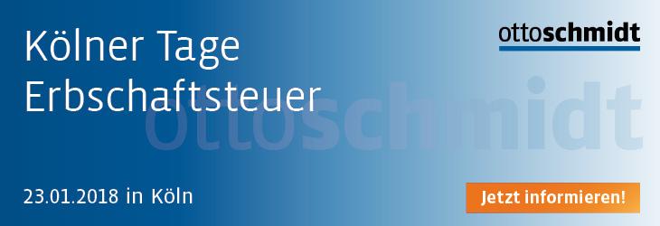 Kölner Tage Erbschaftsteuer