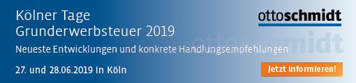 Kölner Tage Grunderwerbsteuer 2019 - 27./28.06.2019