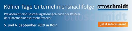 Kölner Tage Unternehmensnachfolge 2019 - 5./6.09.2019