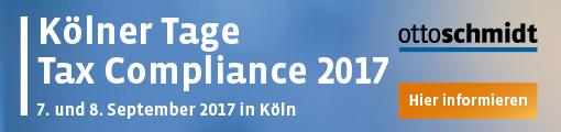 Kölner Tage Tax Compliance 07./08.09.2017