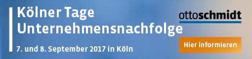 Kölner Tage Unternehmensnachfolge 2017