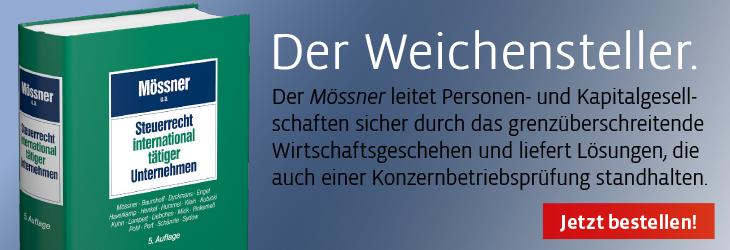 Mössner, Steuerrecht international tätiger Unternehmen