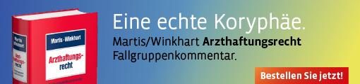 Banner: Martis/Winkhart, Arzthaftungsrecht