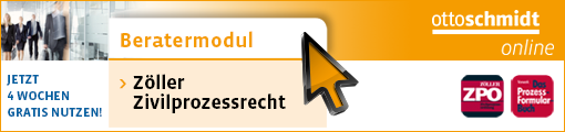 Beratermodul Zöller Zivilprozessrecht