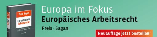 Banner Preis/Sagan, Europäisches Arbeitsrecht