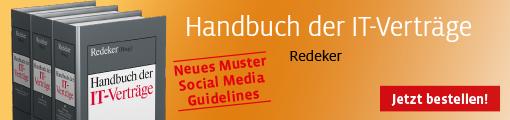 Banner Redeker, Handbuch der IT-Verträge