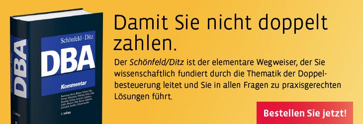 Schönfeld/Ditz, Doppelbesteuerungsabkommen (DBA). Kommentar