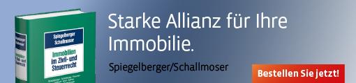 Banner: Spiegelberger/Schallmoser, Immobilien im Zivil- und Steuerrecht