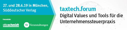 taxtech.forum - 27. -28. Juni 2019