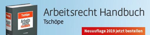 Banner: Tschöpe, Arbeitsrecht Handbuch