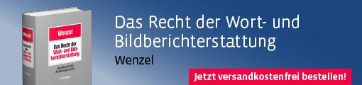 Banner: Wenzel, Das Recht der Wort- und Bildberichterstattung