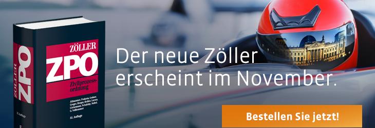 Der neue Zöller erscheint im November.