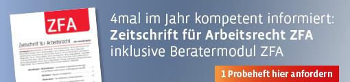 Banner:  ZFA - Zeitschrift für Arbeitsrecht
