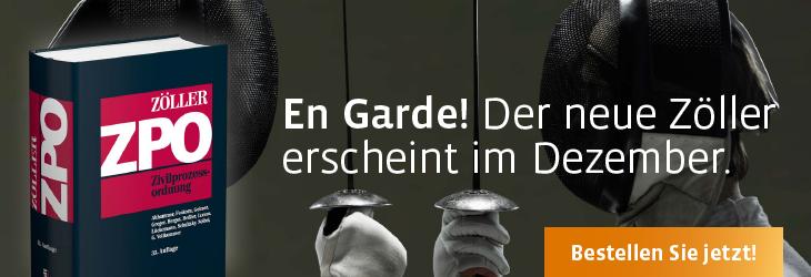 Zöller, Zivilprozessordnung Kommentar