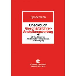 Checkbuch Geschäftsführer Anstellungsvertrag Bücher Verlag Dr