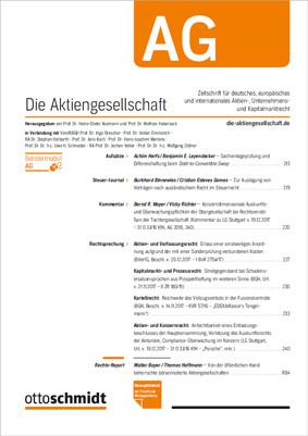AG - Die Aktiengesellschaft (Probeabo)