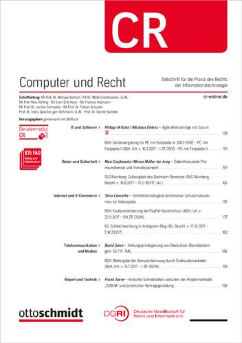 Computer und Recht - CR (Probeabo)