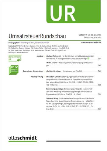 UmsatzsteuerRundschau - UR (Probeabo)
