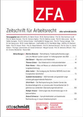 ZFA - Zeitschrift für Arbeitsrecht (Probeabo)
