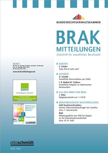 BRAK-Mitteilungen (Probeabo)