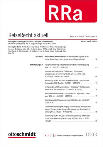 RRa - ReiseRecht aktuell (Probeabo)