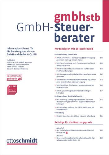 GmbH-Steuerberater - GmbHStB (Probeabo)