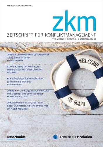 Zeitschrift für Konfliktmanagement - ZKM (Probeabo)
