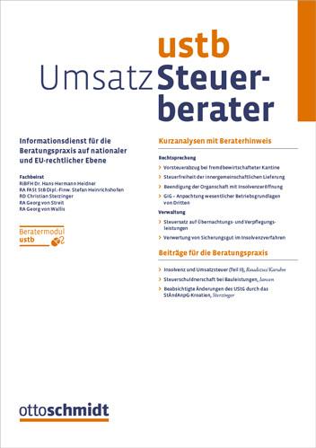 Umsatz-Steuerberater - UStB (Probeabo)