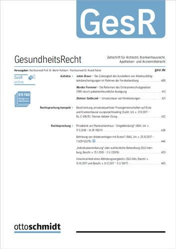 GesundheitsRecht - GesR (Probeabo)