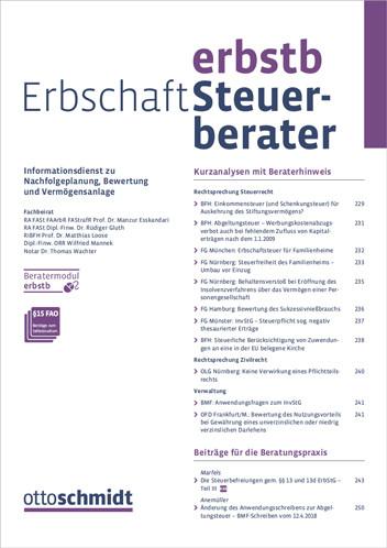Erbschaft-Steuerberater - ErbStB (Probeabo)